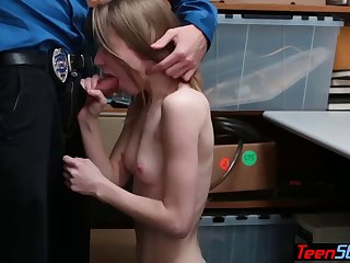 nervous petite russian thief got caught and fucked