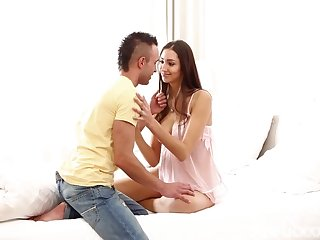 sensual scene with a beautiful couple