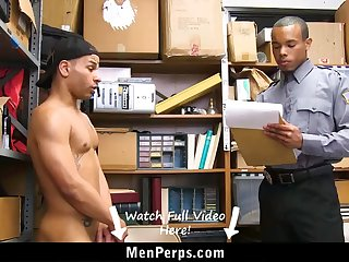 cute guy must give blowjob to cop for getting out of trouble
